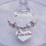 Bride To Be Wine Glass Charm - Elegance Style